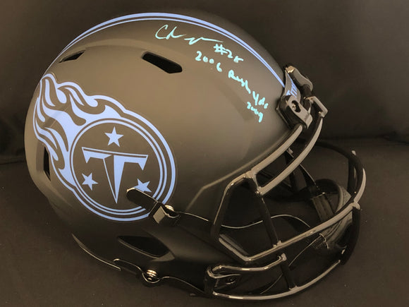 Chris Johnson Autograph Titans Eclipse Full Size Helmet
