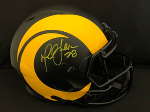 Marshal Faulk Autograph Rams Eclipse Full Size Helmet