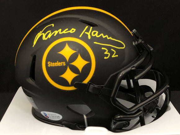 Franco Harris Autograph Steelers Eclipse Mini Helmet
