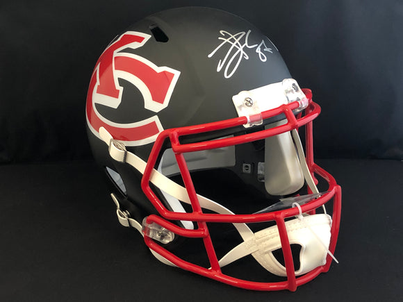 Travis Kelce Autographed Chiefs AMP Full Size Helmet