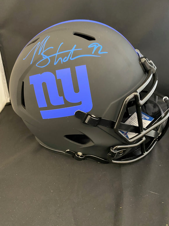 Michael Strahan Autograph Giants Eclipse Full Size Helmet