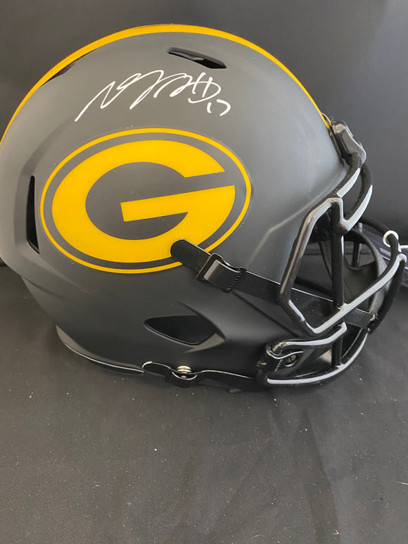 Davante Adams Autograph Packers Eclipse Full Size Helmet