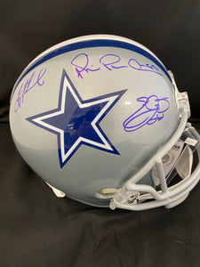 Aikman , Irvin Smith Autograph Cowboys Full Size Helmet