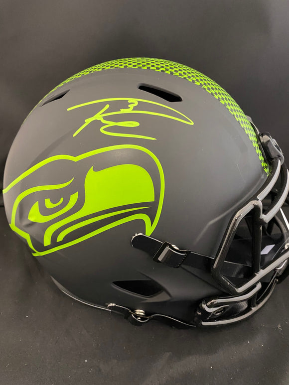 Russell Wilson Autograph Seahawks Eclipse Full Size Helmet