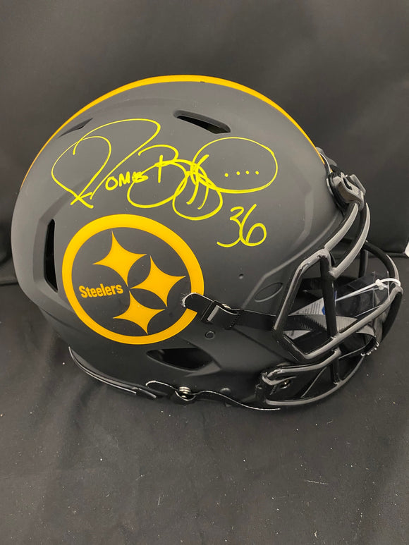 Jerome Bettis Autograph Steelers Eclipse Pro Full Size Helmet