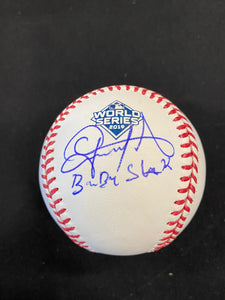 "Gerardo Parra "" Baby shark "" Autograph Official Major League World Series Baseball"