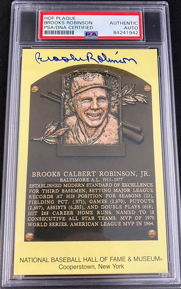 Brooks Robinson Autograph Hall OF Fame Post Card