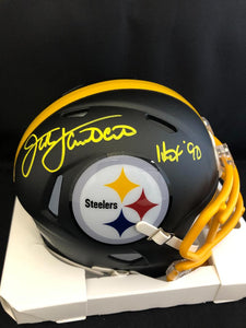 Jack Lambert Autograph Steelers Eclipse Mini Helmet