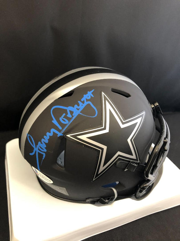 Tony Dorsett Autograph Cowboys Eclipse Mini Helmet