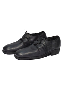 GUIDI 992 DONKEY FULL GRAIN CLASSIC DERBY SHOES BLACK-DOSHABURI