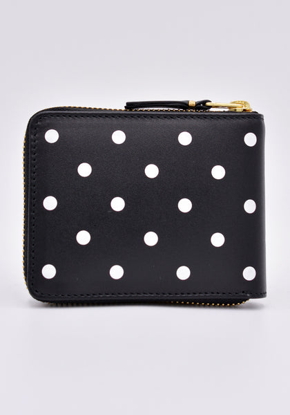COMME DES GARCONS SA7100PD ZIP WALLET POLCA DOT BLACK | DOSHABURI Online Shop