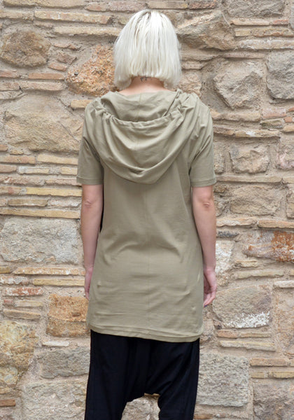 FIRST AID TO THE INJURED LACUNAE HOODED T-SHIRT SAGE - DOSHABURI Shop