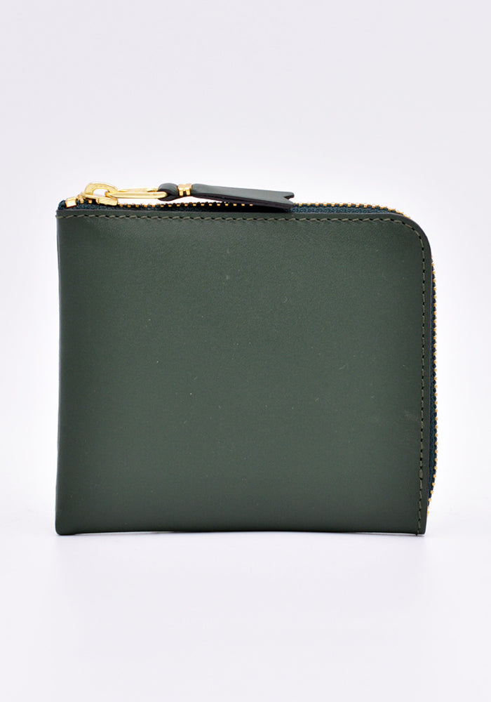 COMME DES GARCONS SA3100 CLASSIC ZIP WALLET BOTTLE GREEN | DOSHABURI Online Shop