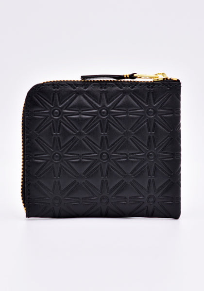 COMME DES GARCONS SA310EA EMBOSSED ZIP WALLET BLACK | DOSHABURI Online Shop