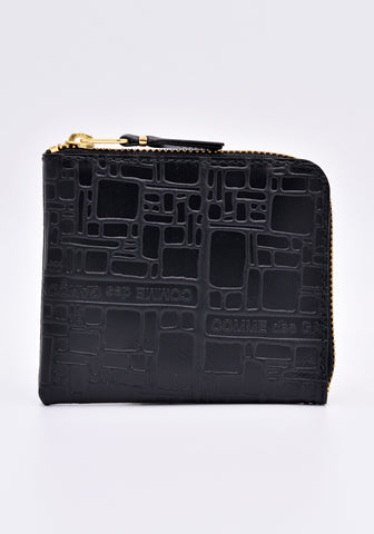 COMME DES GARCONS SA3100EL LOGOTYPE ZIP WALLET BLACK | DOSHABURI Online Shop