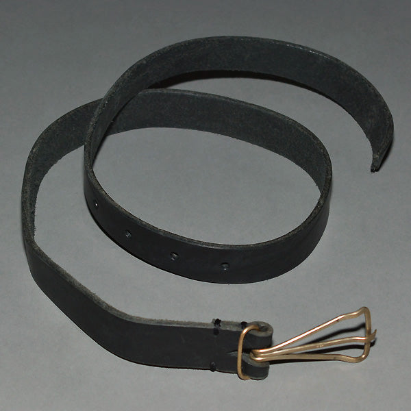 m.a+by Maurizio Amadei BROAD LEATHER BELT BLACK - DOSHABURI Shop