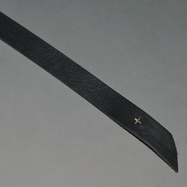 m.a+by Maurizio Amadei BROAD LEATHER BELT BLACK