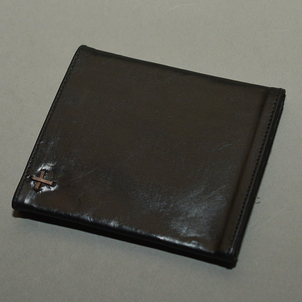 m.a+ by Maurizio Amadei TRI-FOLD SMALL LEATHER WALLET BLACK - DOSHABURI Shop