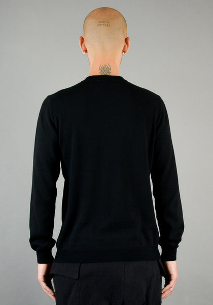 NAMACHEKO THREE SLASHES CREWNECK BLACK - DOSHABURI Shop