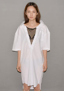 LUTZ HUELLE LU1010 GIANT V SHIRT WHITE | 50%OFF SALE | DOSHABURI Shop
