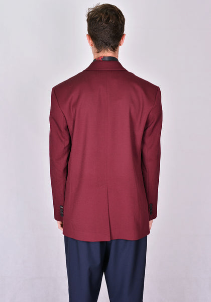 ERNEST W. BAKER BL18 SINGLE BREASTED WELT POCKET BLAZER BORDEAUX