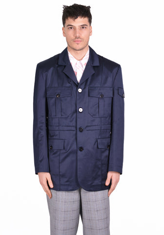 ERNEST W. BAKER JA03 OFFICERS JACKET NAVY BLUE - DOSHABURI Shop