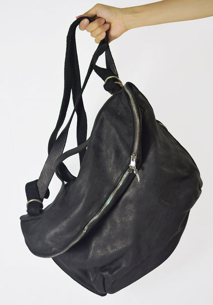 GUIDI M10 SOFT HORSE LEATHER MESSENGER BAG BLACK - DOSHABURI Shop