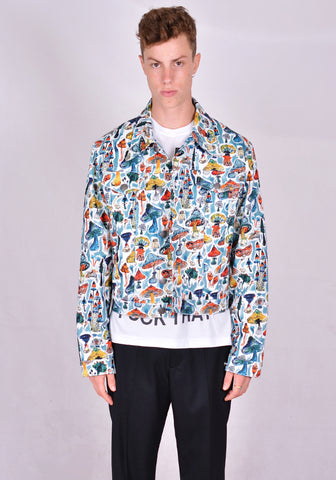 CHARLES JEFFREY LOVERBOY COREAW20ADJ DENIM TRUCKER JACKET PRINT