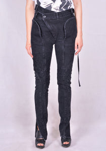 OTTOLINGER AW20PA01B FITTED WRAP WAIST JEANS BLACK FW20 | DOSHABURI Online Shop