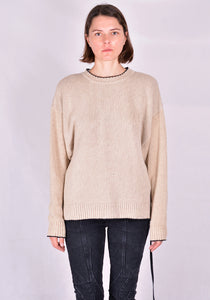 OTTOLINGER AW20KN01AC KNIT SWEATER CREAM 20FW | DOSHABURI Online Shop