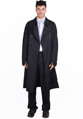 OVERCOAT S20C04TTL-NKG RAGLAN SLEEVE OVARCOAT BLACK - DOSHABURI Shop