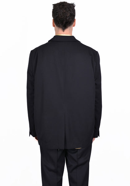 OVERCOAT S20J01-NKG DROPPED SHOULDER JACKET BLACK - DOSHABURI Shop
