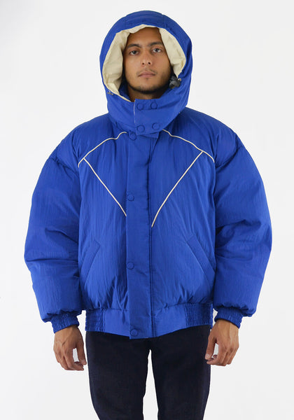 PAUL & YAKOV CPH11 OVERSIZED PUFFER JACKET BLUE - DOSHABURI Shop