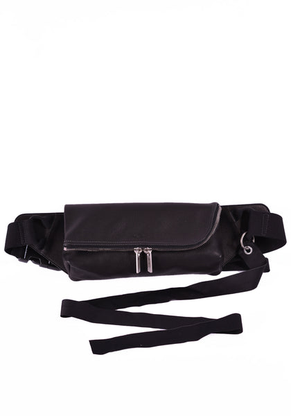 RICK OWENS RR20S7426 LCW SMALL WAIST BAG BLACK - DOSHABURI Shop