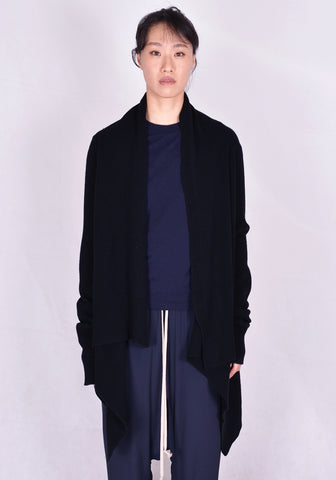 RICK OWENS RP20F2684 WSBR MEDIUM WRAP CARDIGAN BLACK  FW20 | DOSHABURI Online Shop