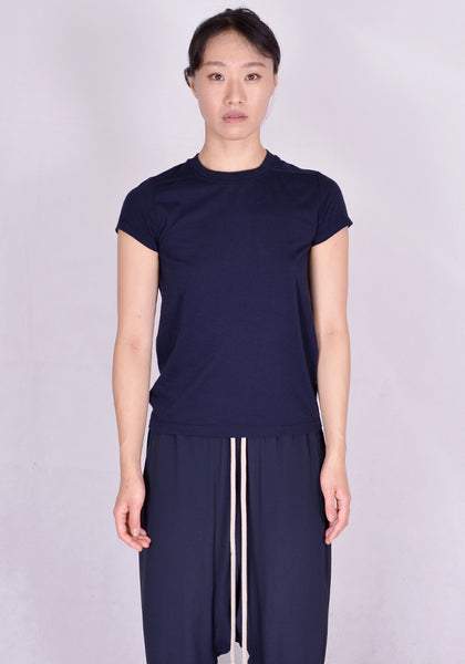 RICK OWENS RP20F2235 JA SHORT LEVEL T-SHIRT DARK NAVY | DOSHABURI Online Shop