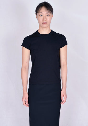 RICK OWENS RP20F2235 JA SHORT LEVEL T-SHIRT BLACK | DOSHABURI Online Shop