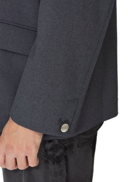 TAC:TAC TA93-FD021 COLLARLESS BLAZER GREY - DOSHABURI Shop
