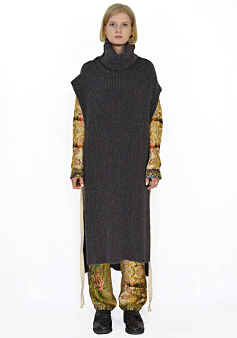 UMA WANG UK7120 TURTLENECK LONG PONCHO - DOSHABURI Shop