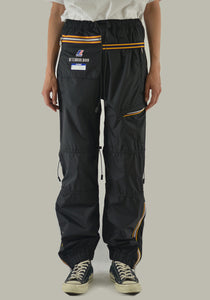 AFTER HOMEWORK K-WAY EDGARD WATERPROOF PANTS BLACK