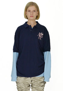 AFTER HOMEWORK SP1 POLO SWEATER NAVY/BLUE - DOSHABURI Shop