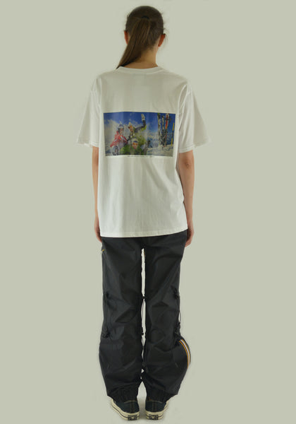AFTER HOMEWORK SHUTTER SKI CLUB T-SHIRT WHITE - DOSHABURI Shop