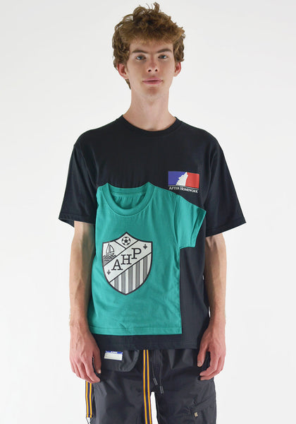 AFTER HOMEWORK T2 DOUBLE COLORWAY T-SHIRT BLACK/GREEN - DOSHABURI Shop