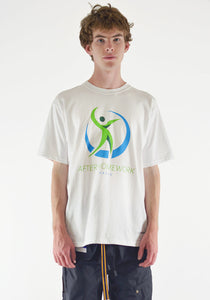 AFTER HOMEWORK HEALTH PRINTED T-SHIRT WHITE - DOSHABURI Shop