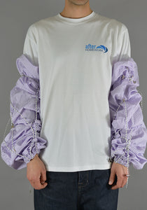 AFTER HOMEWORK PAULA CORD SLEEVES PURPLE - DOSHABURI Shop