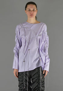 AFTER HOMEWORK UNISEX CRISTO LONG SLEEVE CORD TOP PURPLE - DOSHABURI Shop