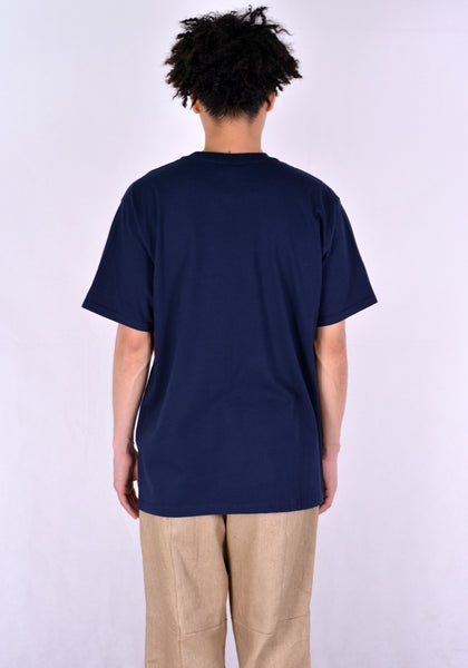 AFTER HOMEWORK LIVA2 DOUBLE T-SHIRT BLUE/RED - DOSHABURI Shop