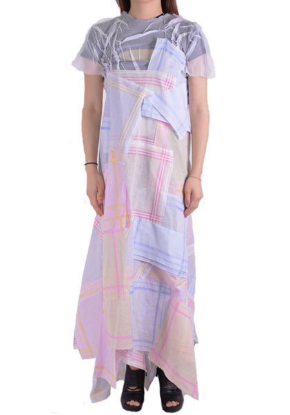 AFTER HOMEWORK TIS UPCYCLING TISSUE DRESS MULTI COLER - DOSHABURI Shop