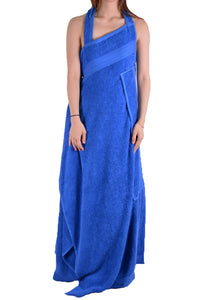 AFTER HOMEWORK PLAYA DRESS IN TOWEL BLUE - DOSHABURI Shop