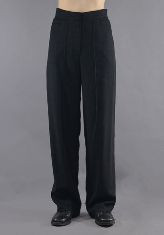 ART SCHOOL MTRS001 TAILORED SUIT TROUSERS BLACK - DOSHABURI Shop
